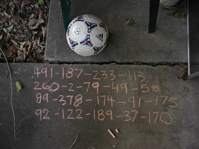 For the first time my juggling records are recorded in chalk.